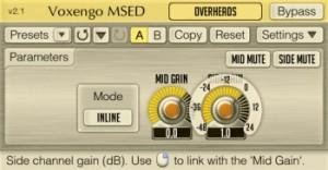 Voxengo MSED free mid/side vst plugin