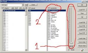 Wavosaur VST Rack parameter control