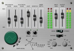 free vst plugin - iZotope lo-fi Vinyl simulator effect