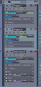Sidechain UAD triggers and source setup