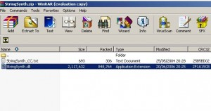 Winrar: Select file to extract