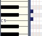Intervals:Piano Roll Major 2nd - Key of C