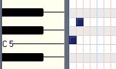 Intervals:Piano Roll Major 2nd Key of C