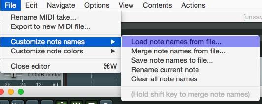 Change Midi Note Names